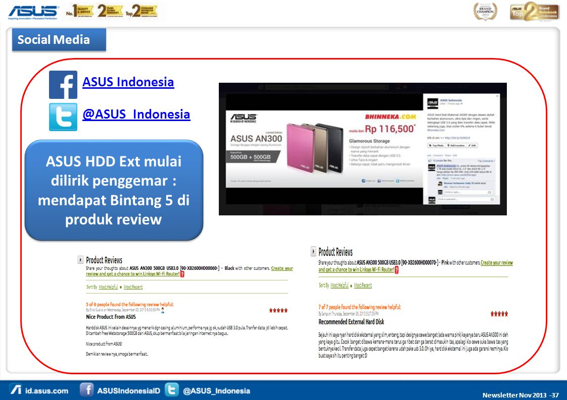 Social Media ASUS Indonesia. @ASUS_Indonesia.