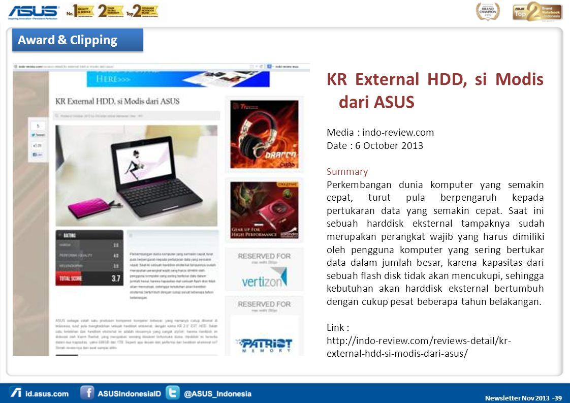 KR External HDD, si Modis dari ASUS