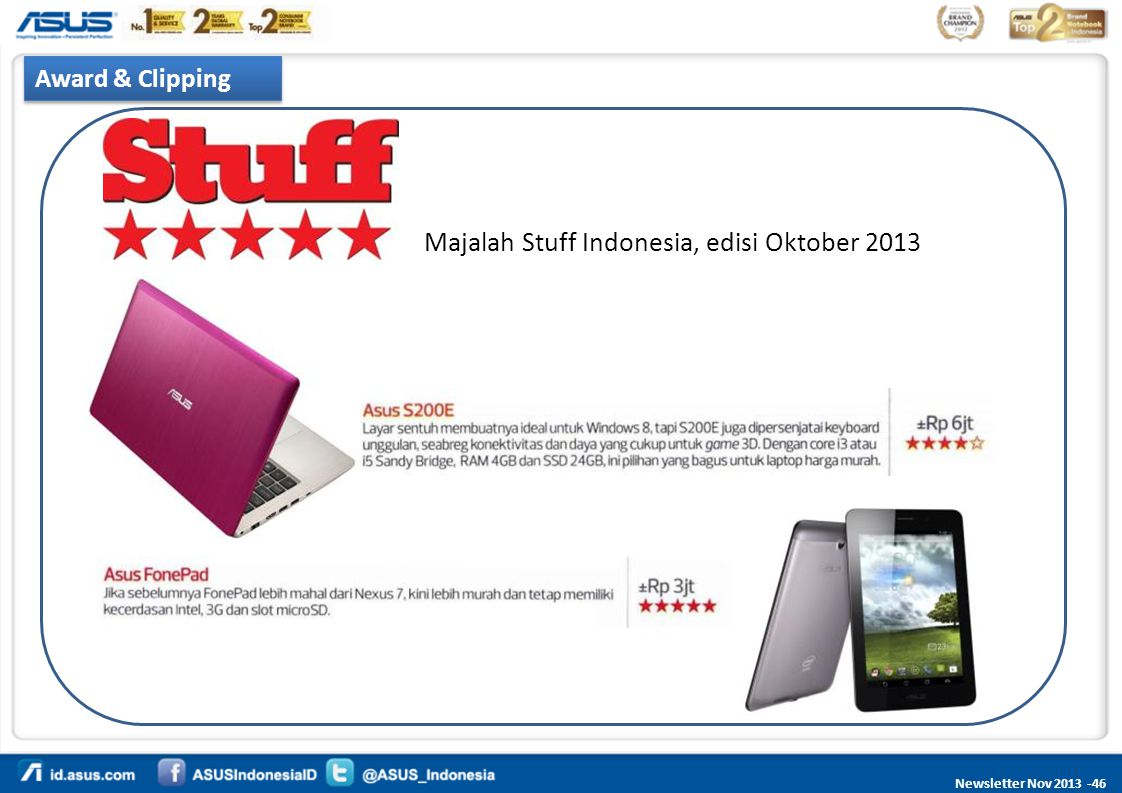 Majalah Stuff Indonesia, edisi Oktober 2013
