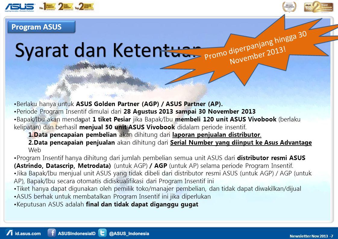 Promo diperpanjang hingga 30 November 2013!