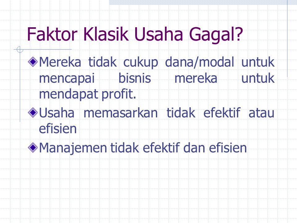 Faktor Klasik Usaha Gagal