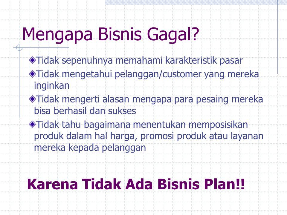 Mengapa Bisnis Gagal Karena Tidak Ada Bisnis Plan!!