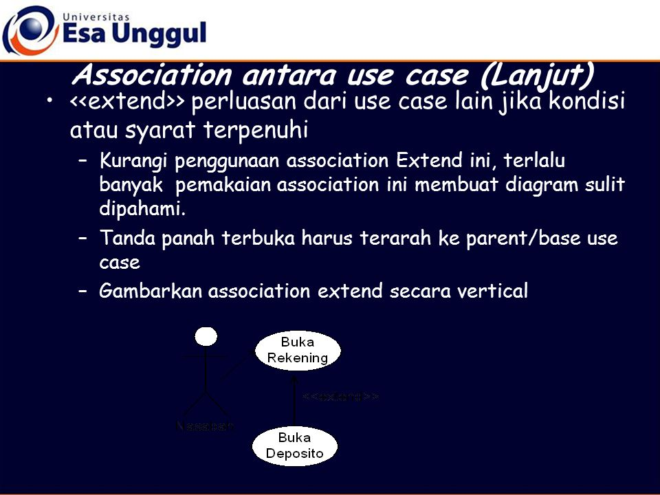 Association antara use case (Lanjut)