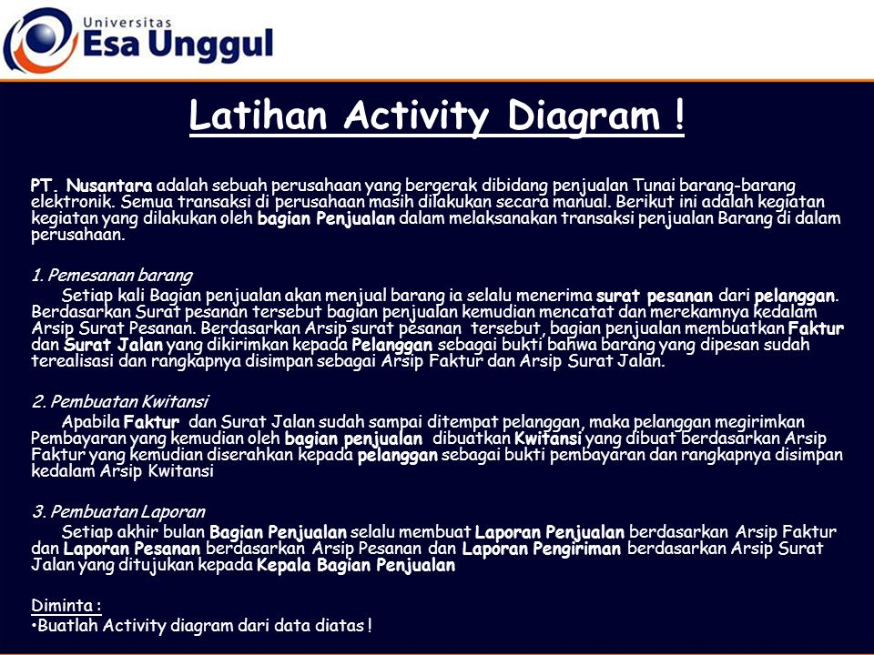 Latihan Activity Diagram !