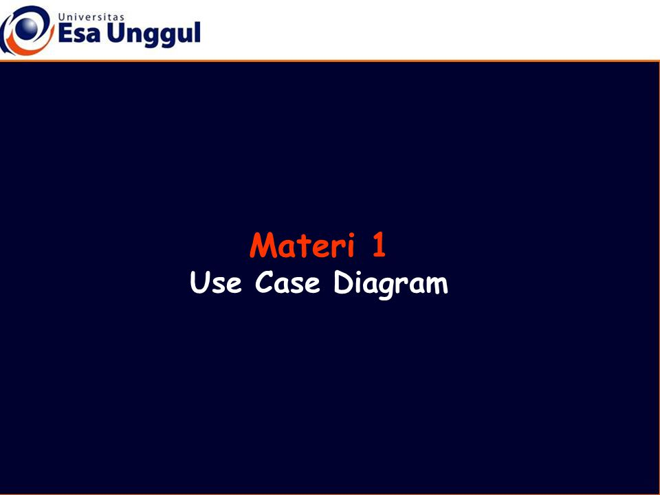Materi 1 Use Case Diagram