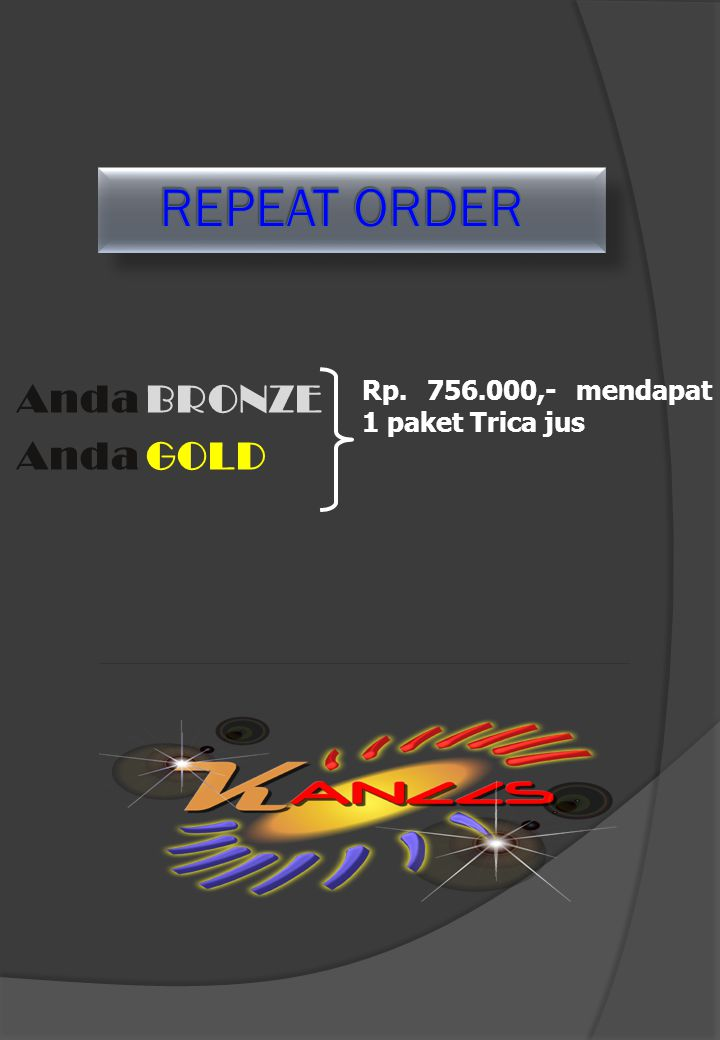 REPEAT ORDER Anda BRONZE Anda GOLD