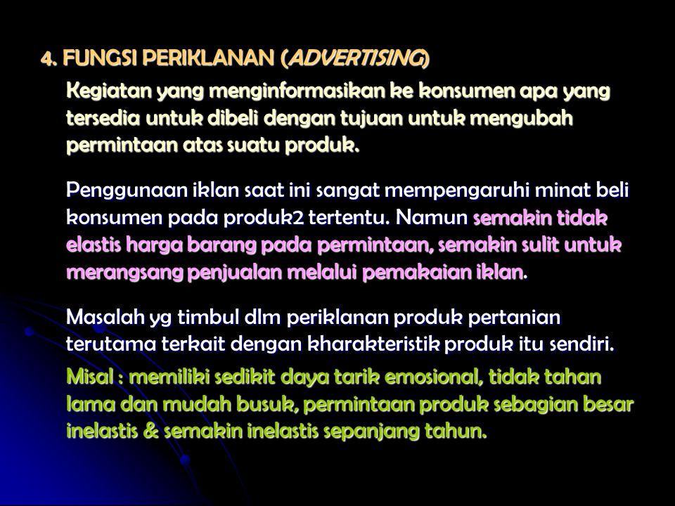 4. FUNGSI PERIKLANAN (ADVERTISING)