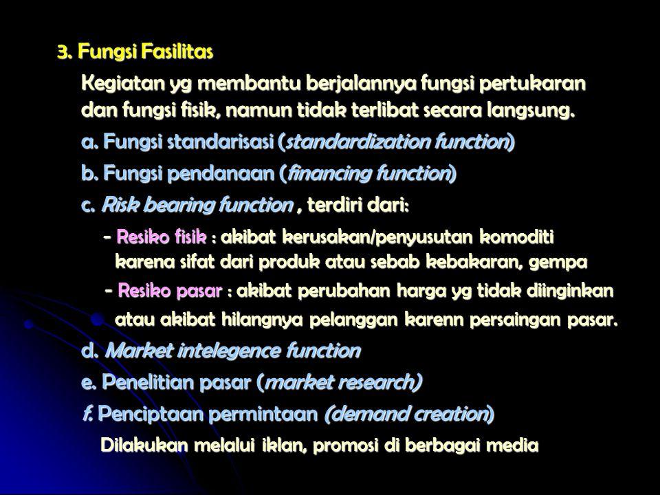 a. Fungsi standarisasi (standardization function)