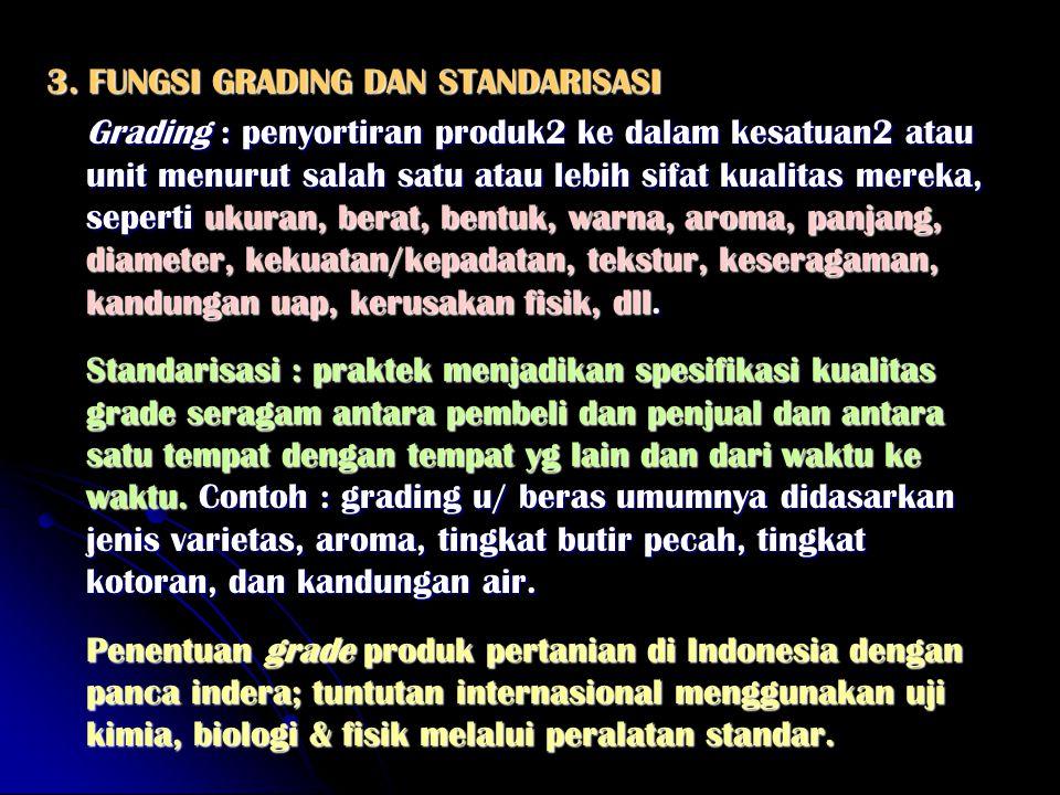 3. FUNGSI GRADING DAN STANDARISASI