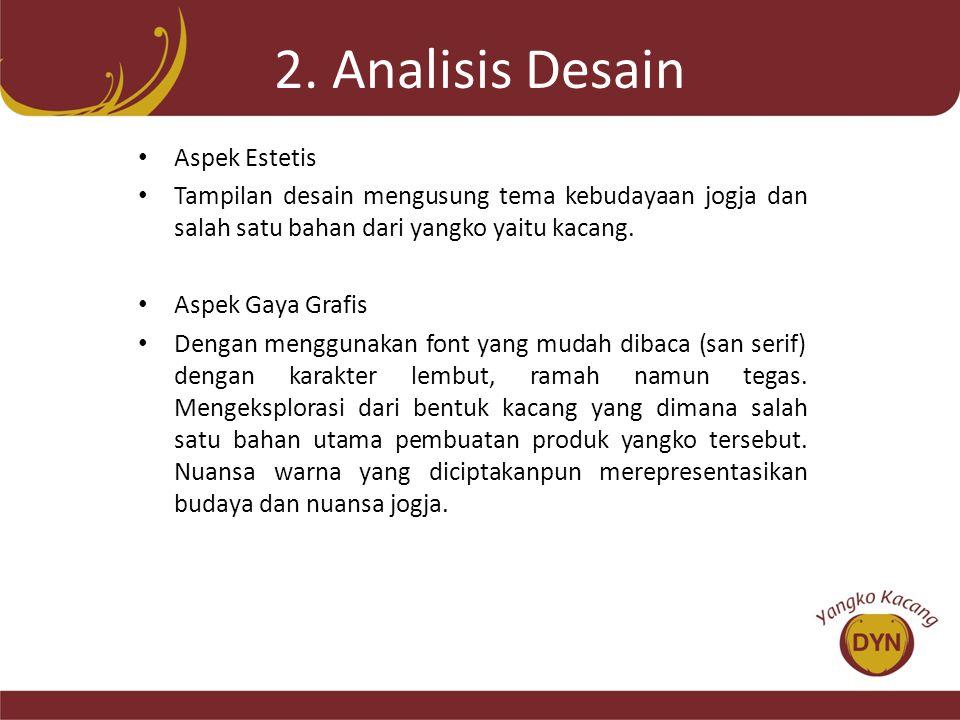 2. Analisis Desain Aspek Estetis
