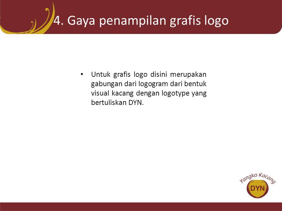 4. Gaya penampilan grafis logo