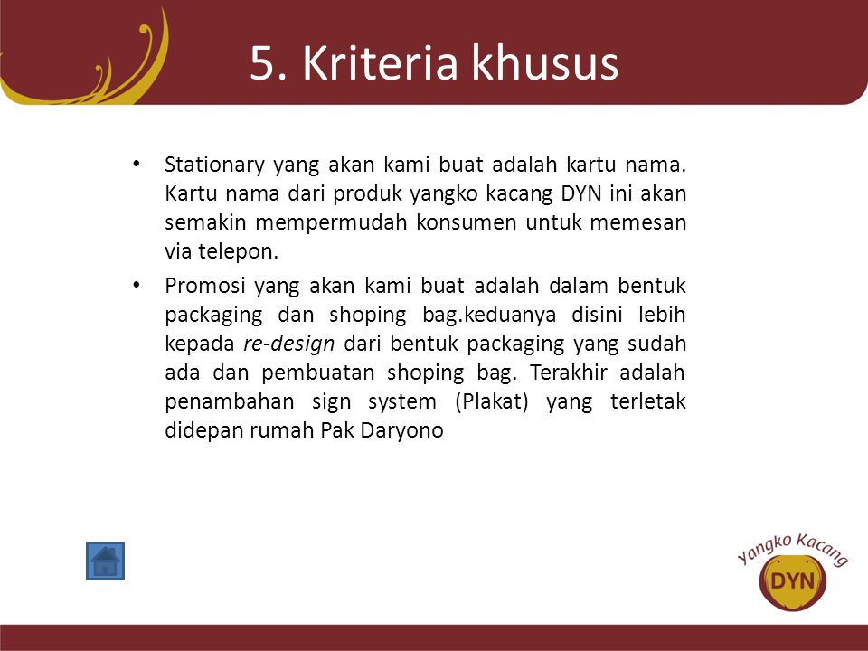 5. Kriteria khusus