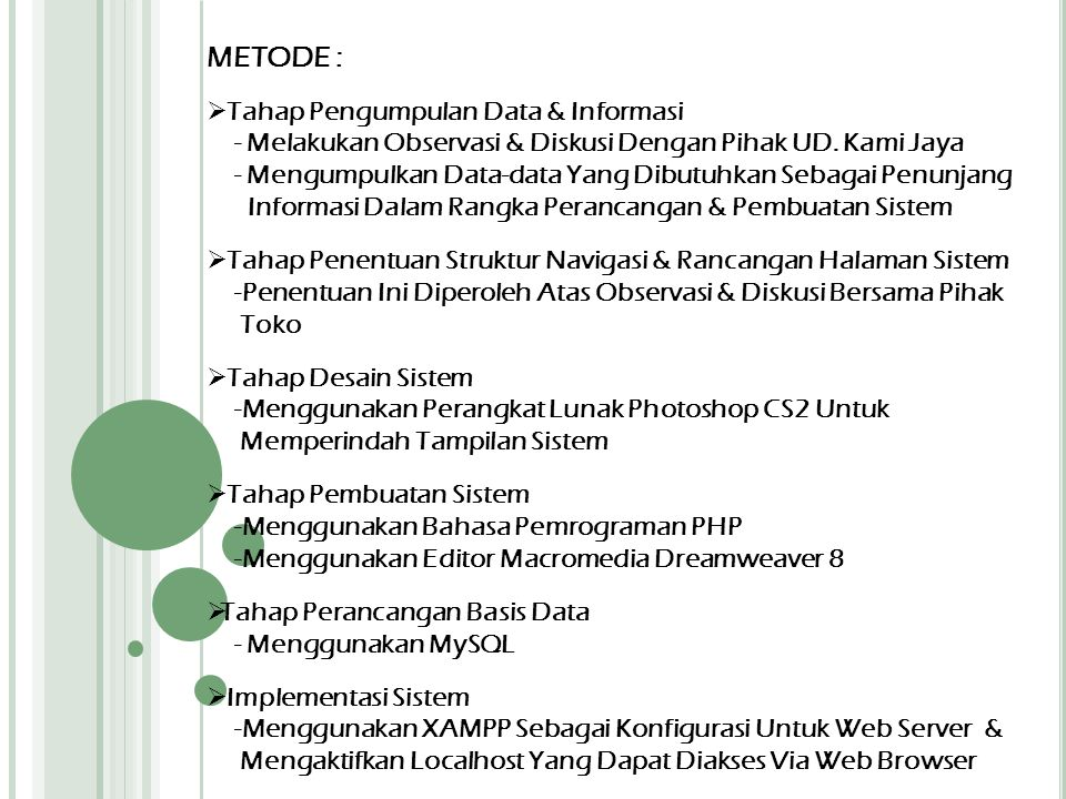 METODE : Tahap Pengumpulan Data & Informasi