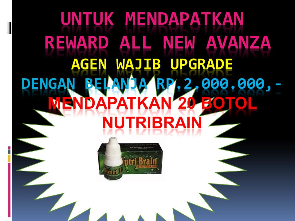 Untuk mendapatkan reward ALL NEW avanza agen wajib upgrade