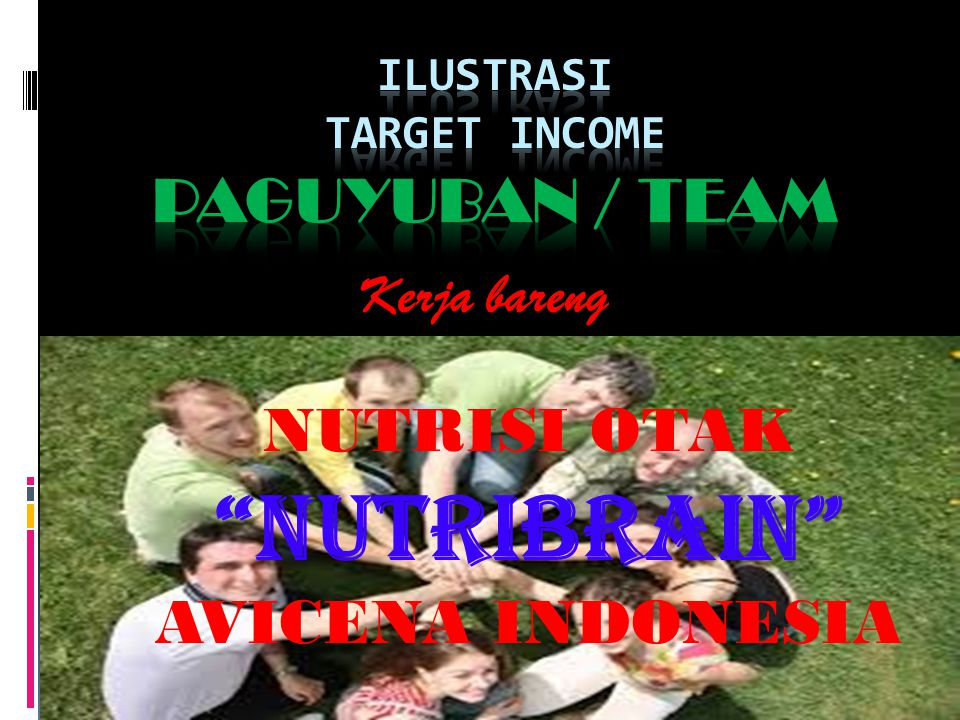 ILUSTRASI TARGET INCOME PAGUYUBAN / TEAM