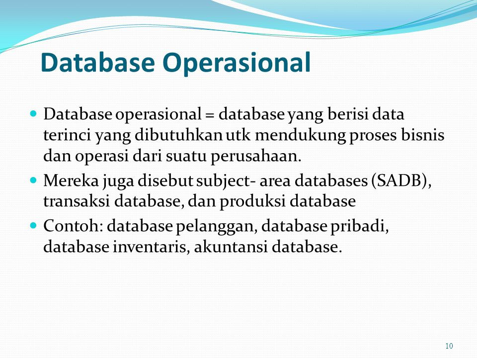 Database Operasional