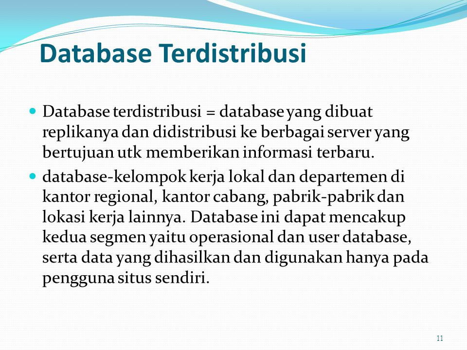 Database Terdistribusi