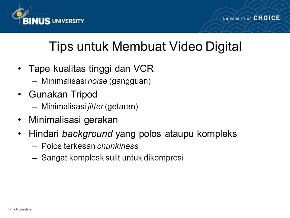 Tips untuk Membuat Video Digital