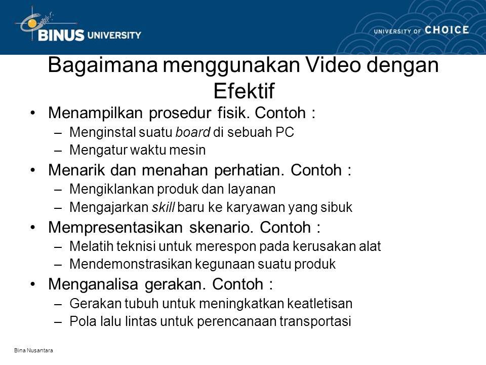 Bagaimana menggunakan Video dengan Efektif