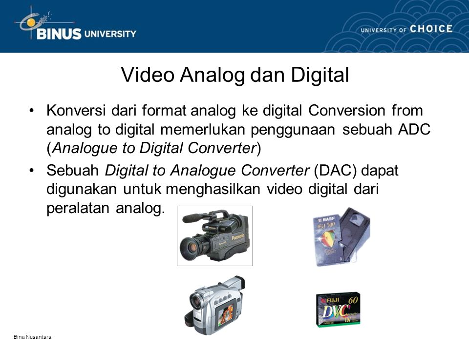 Video Analog dan Digital