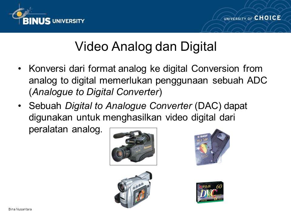 Video Analog dan Digital