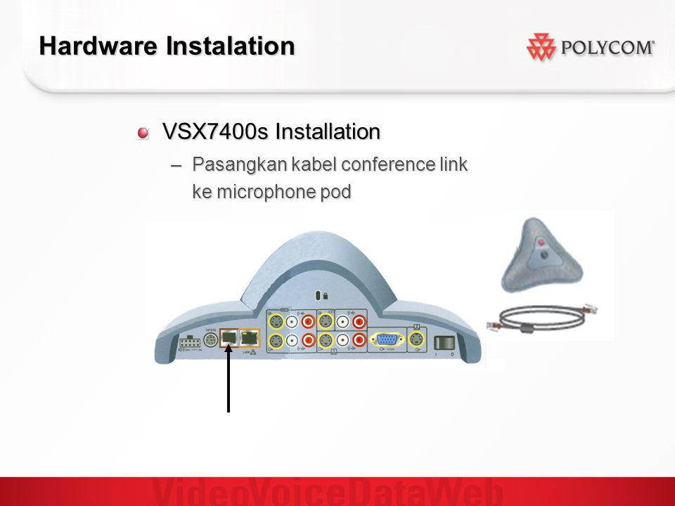 Hardware Instalation VSX7400s Installation