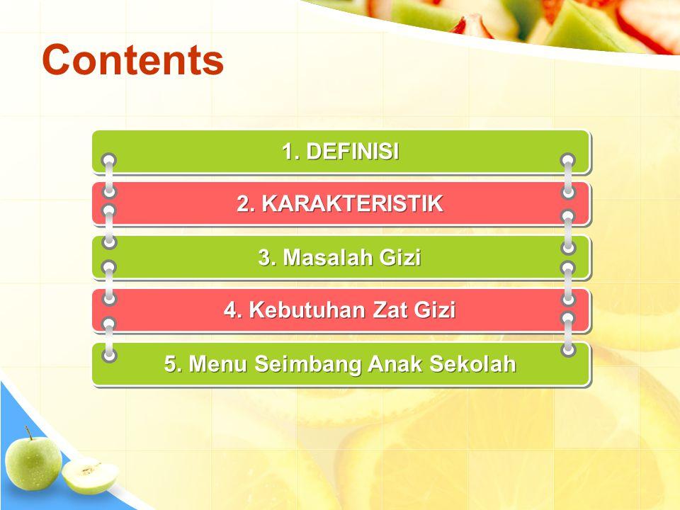 5. Menu Seimbang Anak Sekolah