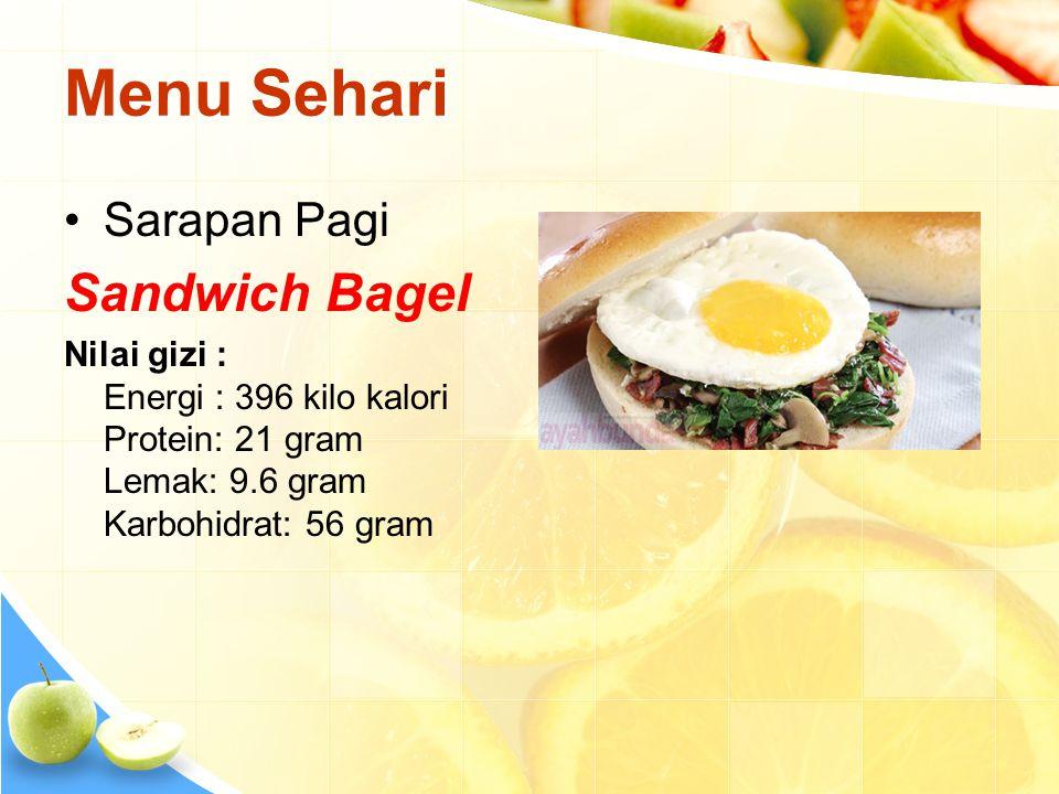 Menu Sehari Sandwich Bagel Sarapan Pagi