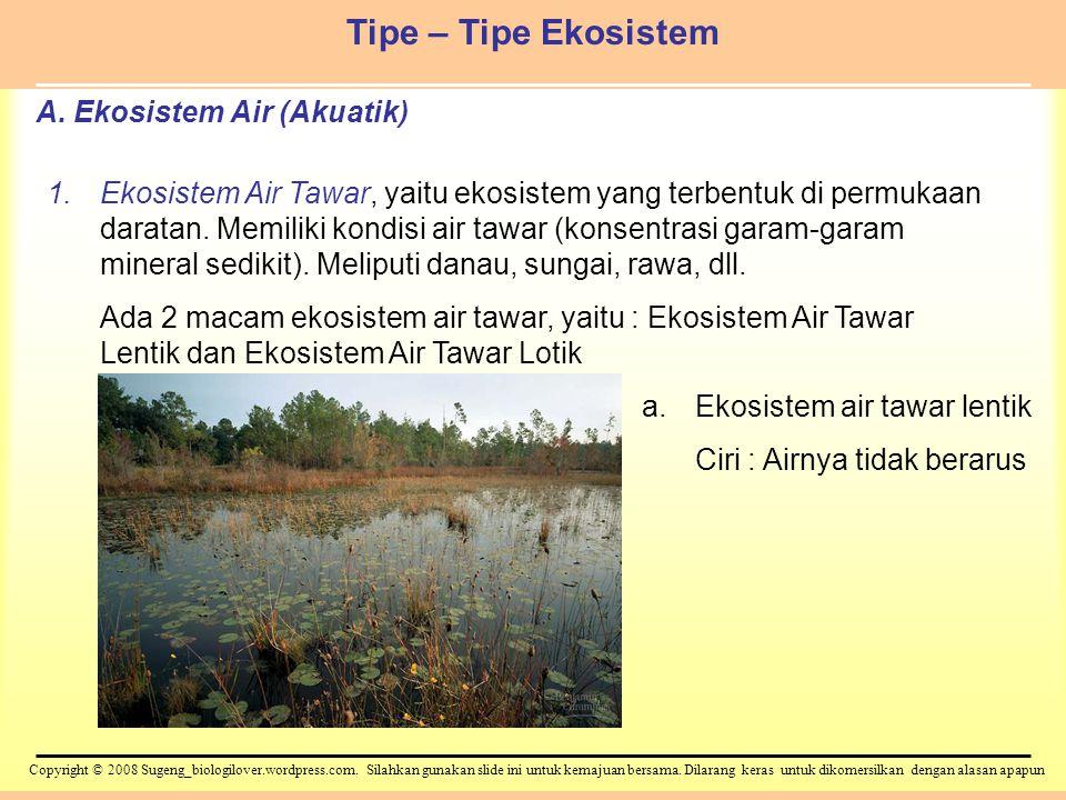A. Ekosistem Air (Akuatik)