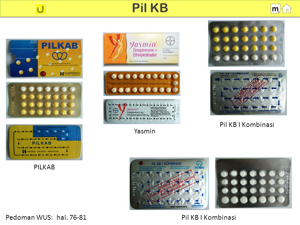 Pil KB m Pil KB I Kombinasi Yasmin PILKAB Pedoman WUS: hal. 76-81