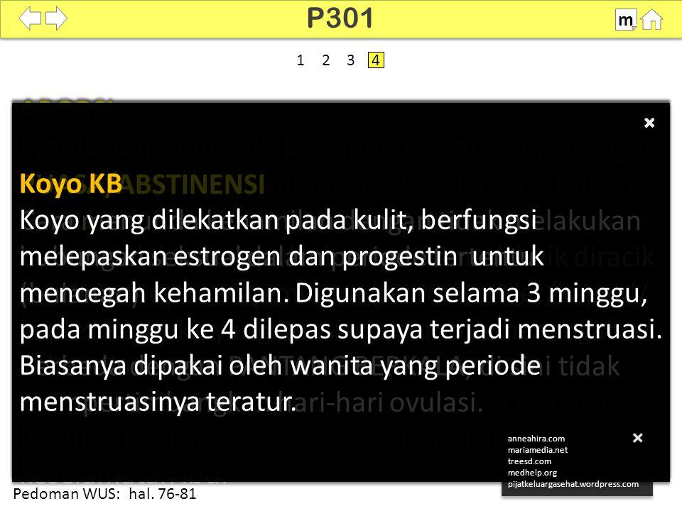P301 m. SDKI 2012. 100% 1. 2. 3. 4. PUASA/ABSTINENSI.
