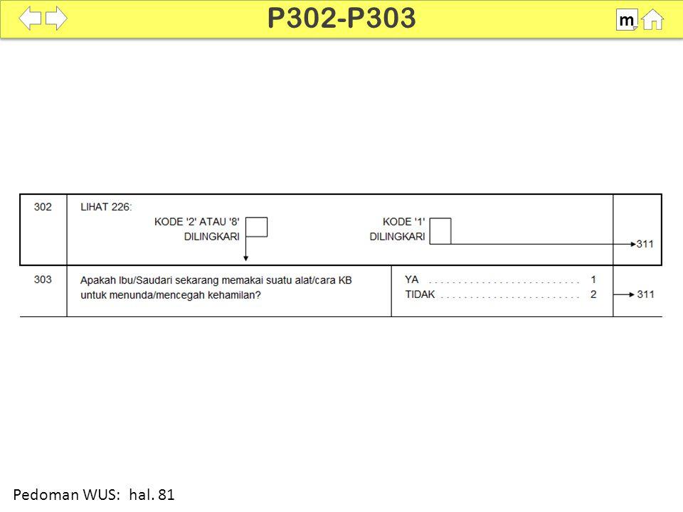 P302-P303 m SDKI 2012 100% Pedoman WUS: hal. 81