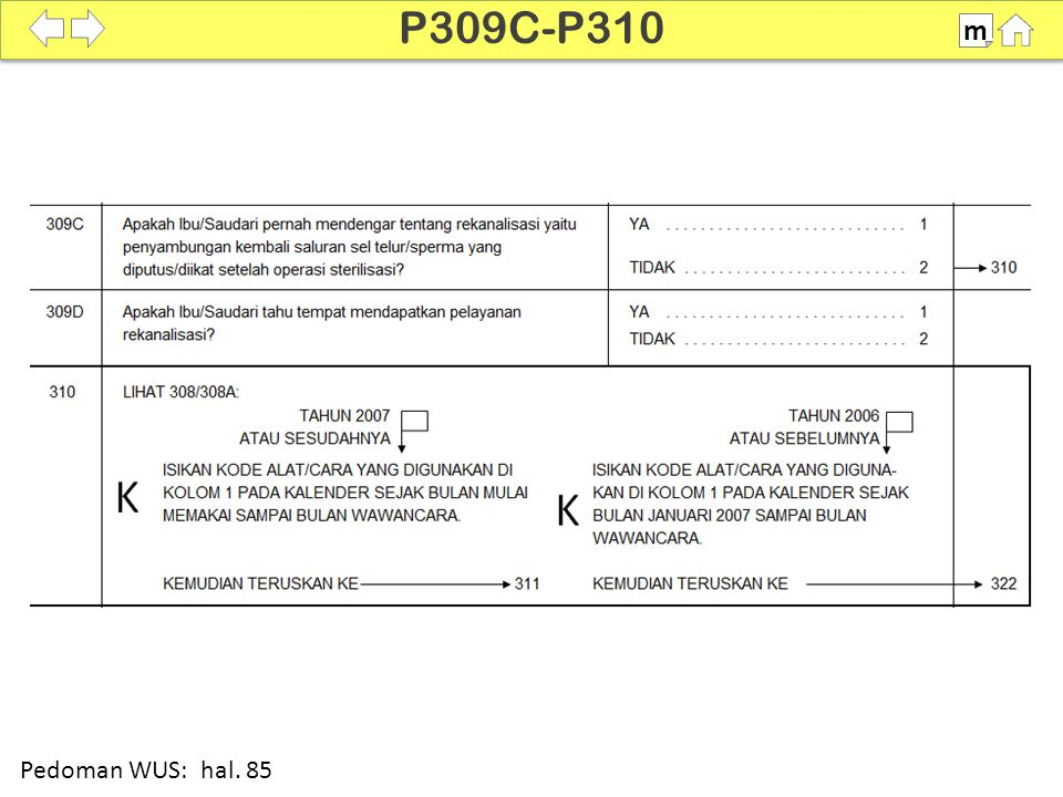 P309C-P310 m SDKI 2012 100% Pedoman WUS: hal. 85