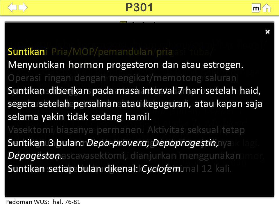 P301 Sterilisasi Pria/MOP/pemandulan pria