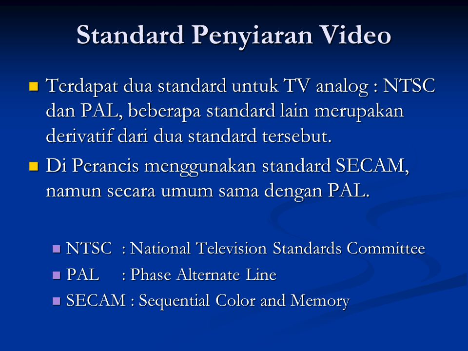 Standard Penyiaran Video