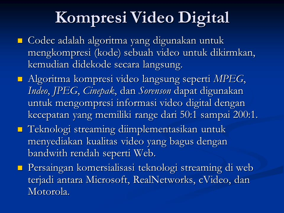 Kompresi Video Digital