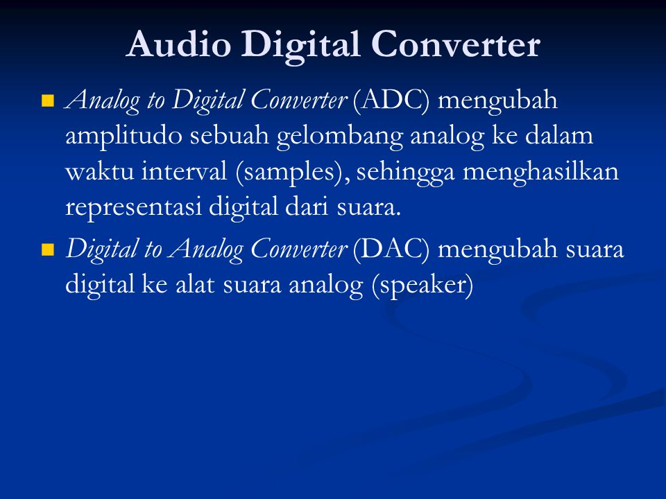Audio Digital Converter