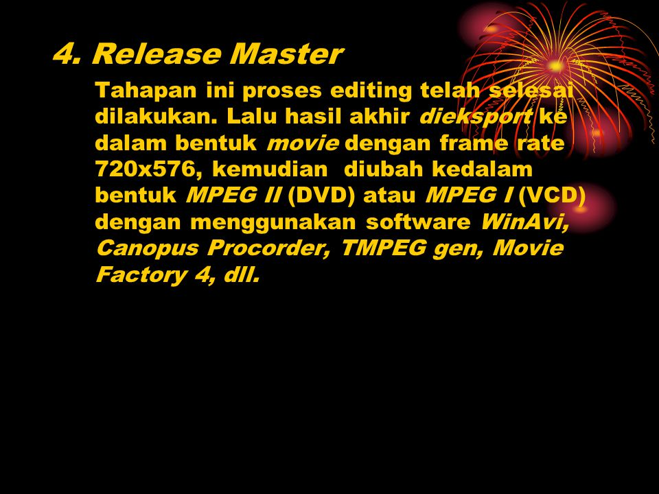 4. Release Master