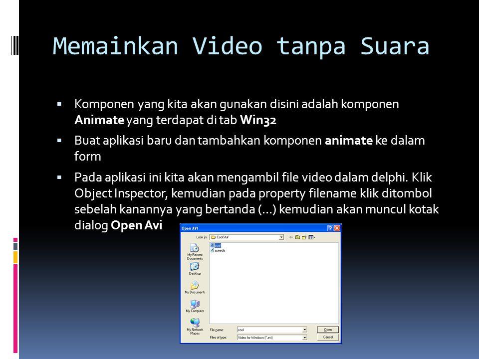 Memainkan Video tanpa Suara