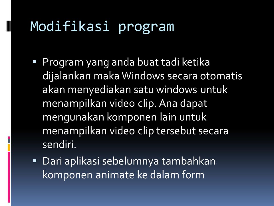 Modifikasi program