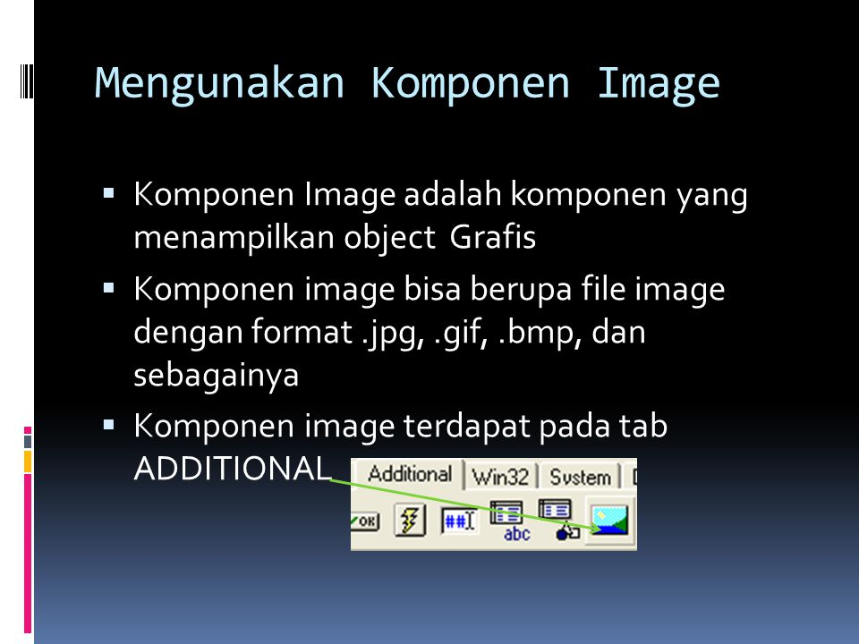 Mengunakan Komponen Image