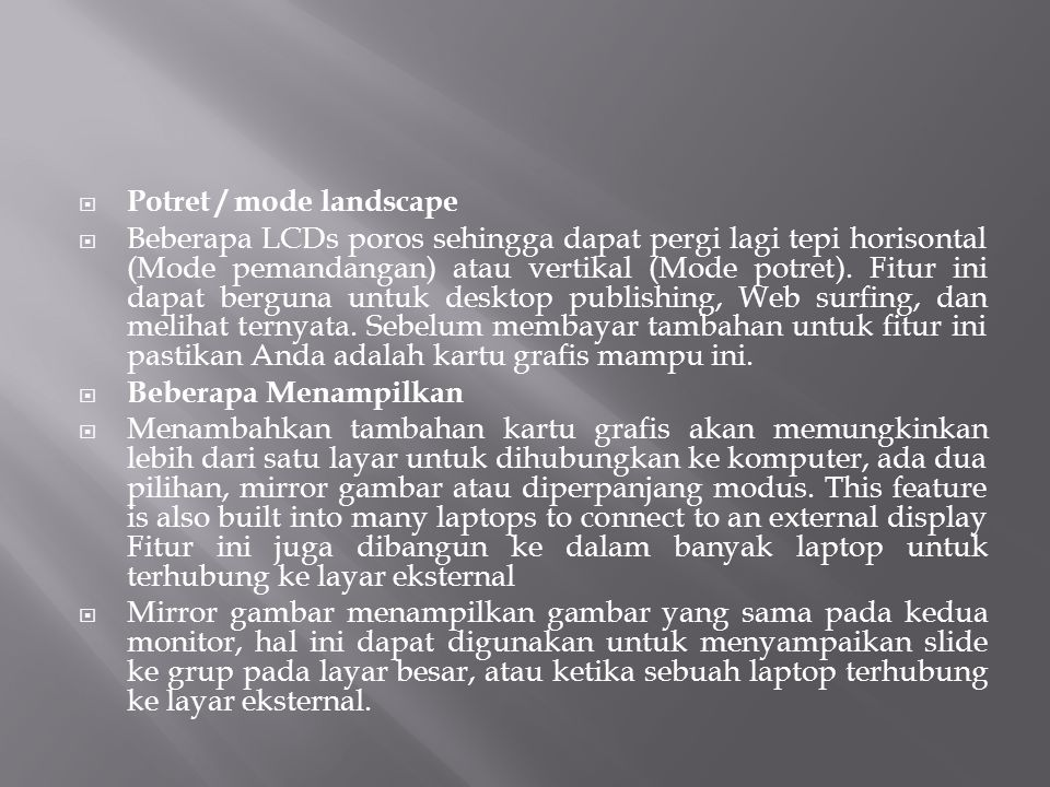 Potret / mode landscape