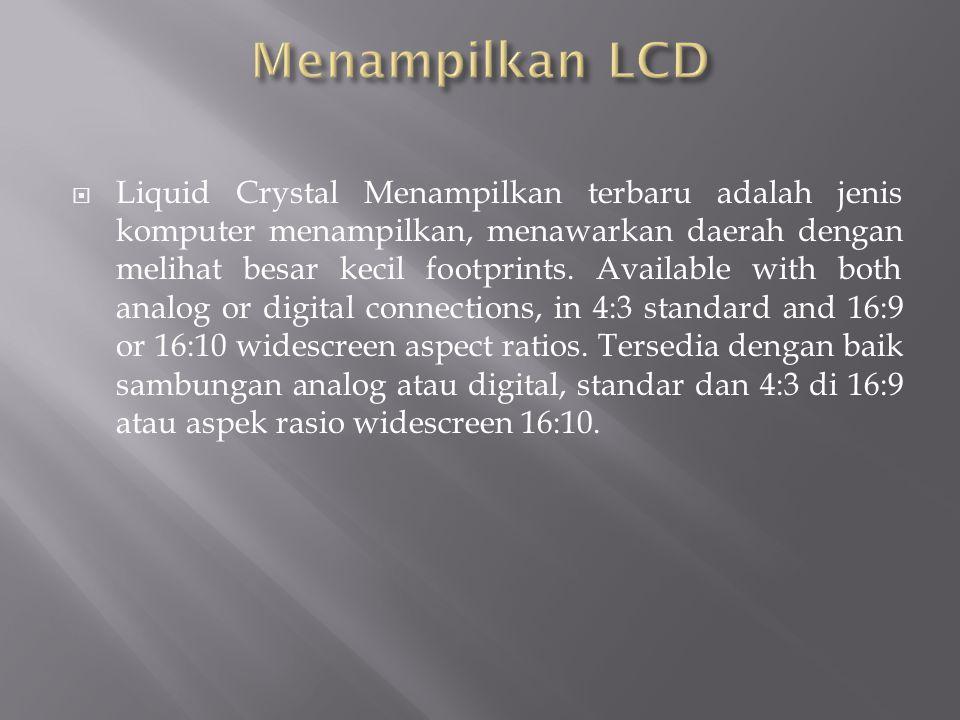Menampilkan LCD