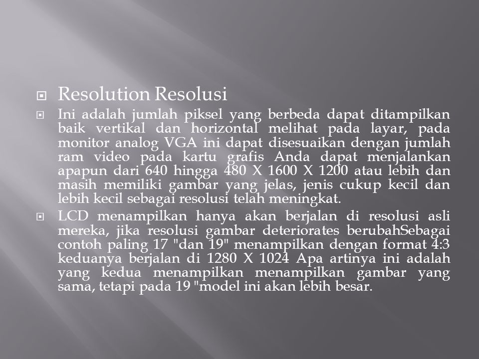Resolution Resolusi