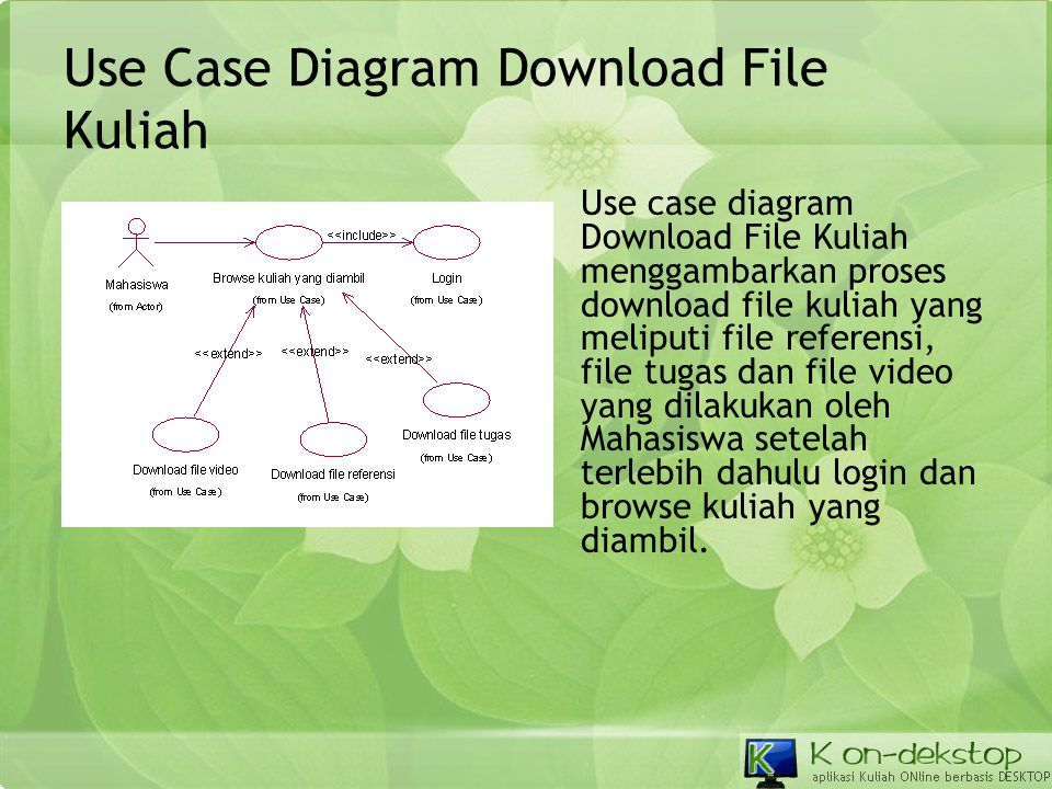 Use Case Diagram Download File Kuliah
