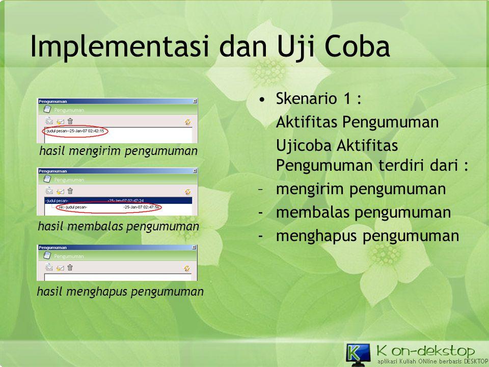 Implementasi dan Uji Coba