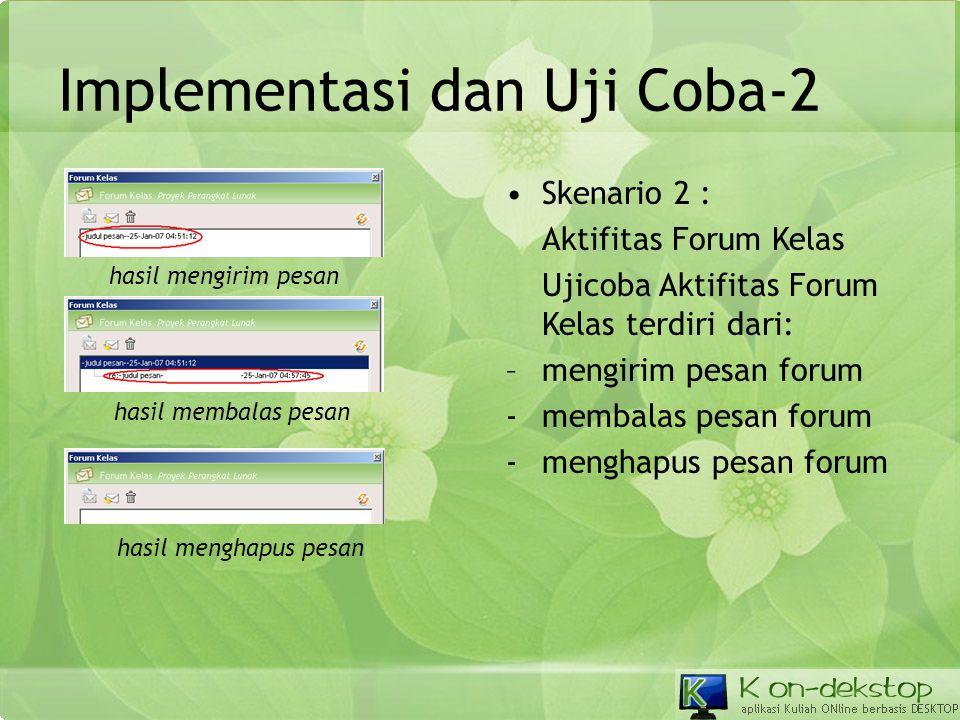 Implementasi dan Uji Coba-2