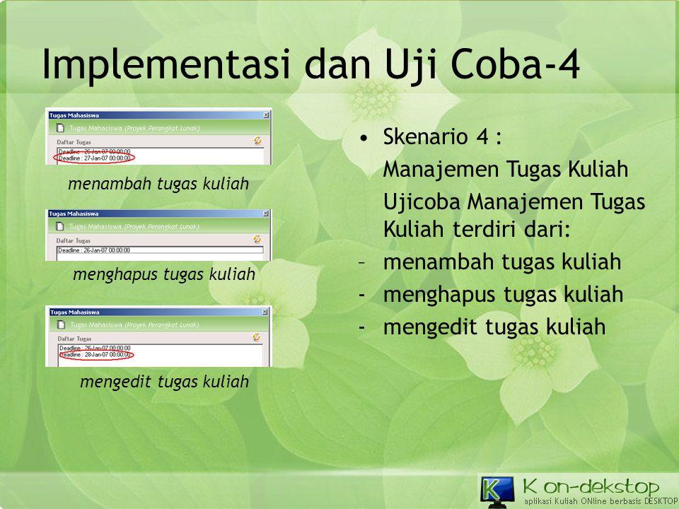 Implementasi dan Uji Coba-4