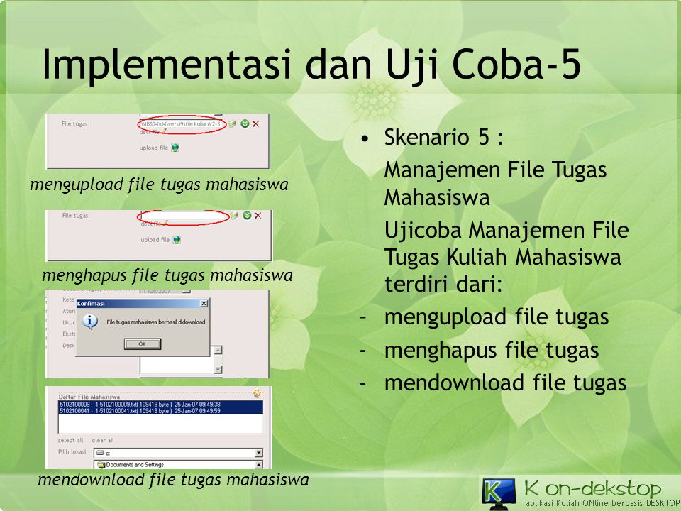 Implementasi dan Uji Coba-5