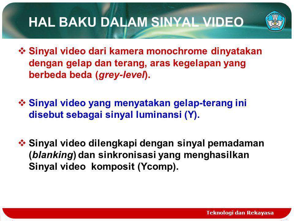 HAL BAKU DALAM SINYAL VIDEO